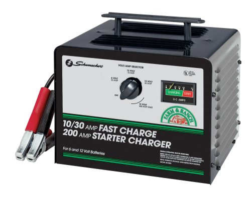 Schumacher SE-3010 10/30/200 Amp Fast Charge Starter - Heavy Charger Duty Battery