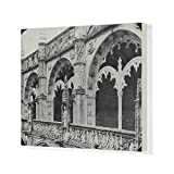 20x16 Canvas Print of Spain and Portugal - Detail of Cloisters (14371645)