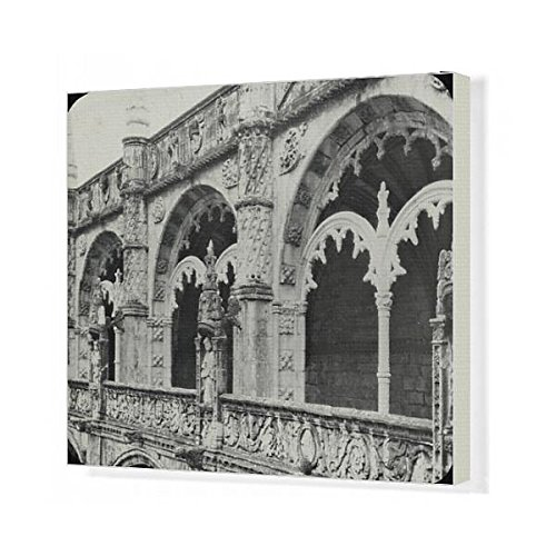 20x16 Canvas Print of Spain and Portugal - Detail of Cloisters (14371645) by Prints Prints Prints