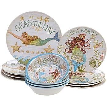 Certified International SEA12PC Durable Sea Beauty Dinnerware Set Multicolor  sc 1 st  Amazon.com & Amazon.com | Certified International SEA12PC Durable Sea Beauty ...