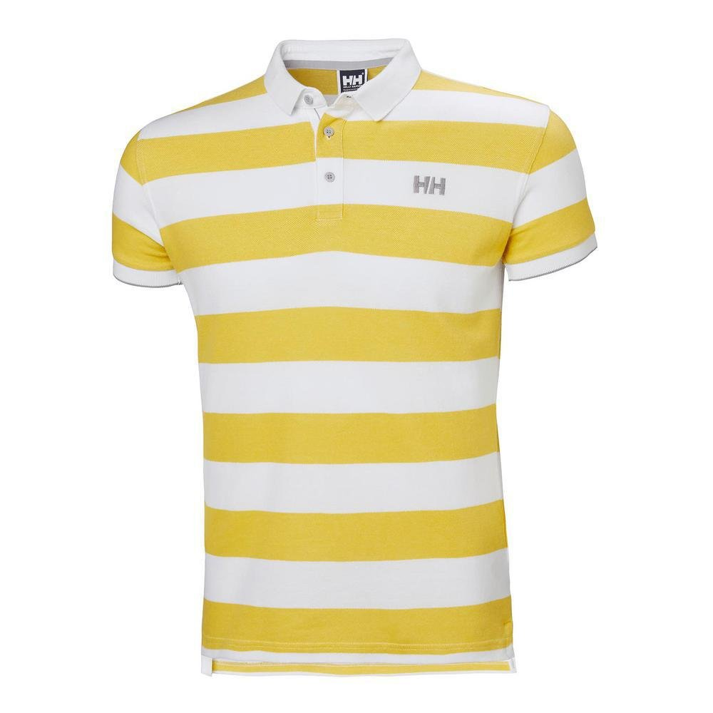 Helly Hansen MARSTRAND POLO - Polo, Hombre, Multicolor(351 SULPHUR STRIPE)