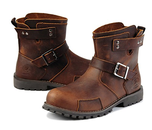 Insun Mens Crazy Horse Leather Ankle Work Boots Crazy Horse Leather Brown AiQmLQm3