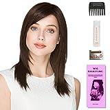 Code Mono by Ellen Wille, Wig Galaxy Hair Loss Booklet, 2oz Travel Size Wig Shampoo, Wig Cap, & Wide Tooth Comb (Bundle – 5 Items), Color Chosen: Dark Chocolate Mix