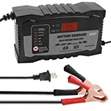6Volt 12Volt Automatic Lead Acid Battery Charger Maintainer, 2Amp 6Amp Float Charger for Car Motorcycle Snowmobile ATV RVs Trucks
