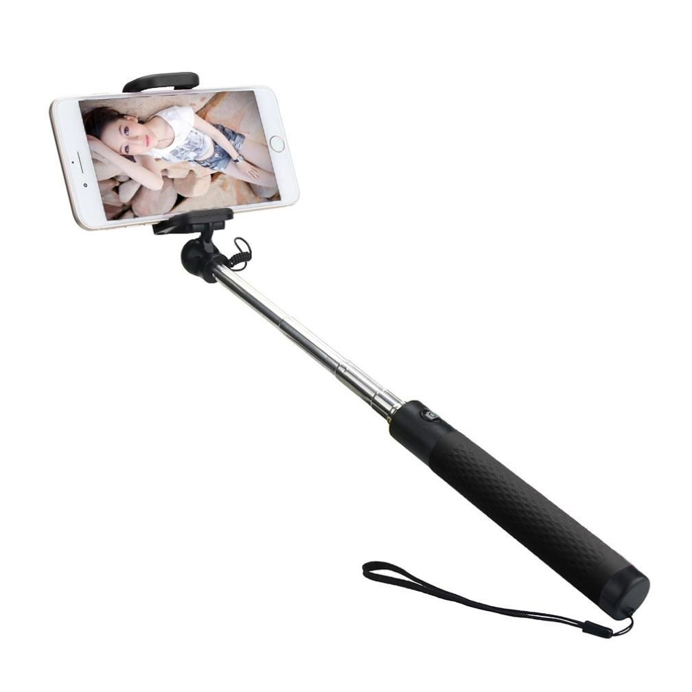 hunpta portátil extensible Monopod Mano self-pole Wired selfie stick para iphone