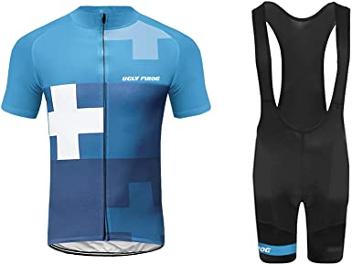 bib shorts set Mens cycling jersey half sleeve racing t-shirt
