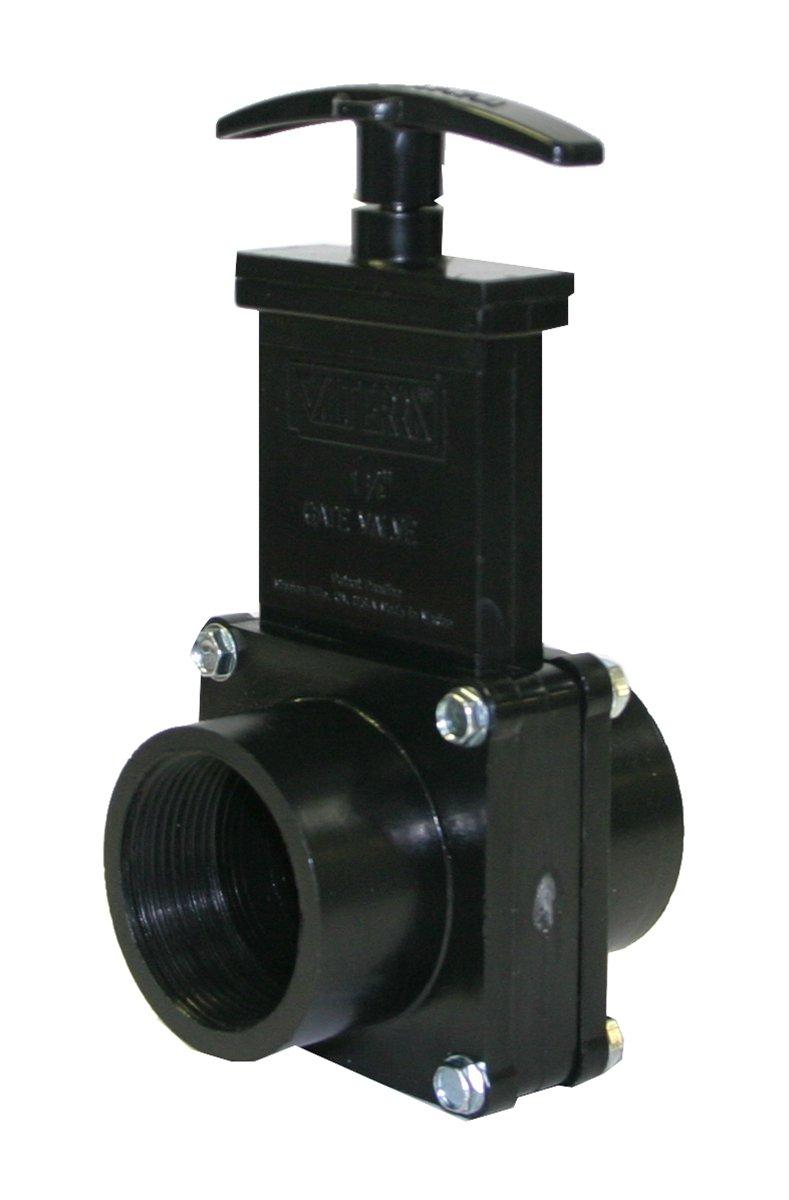 Valterra 7107 ABS Gate Valve 1-1//2 FPT Black