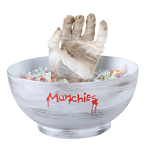 Deluxe Halloween Animated Mummy Hand Candy Bowl