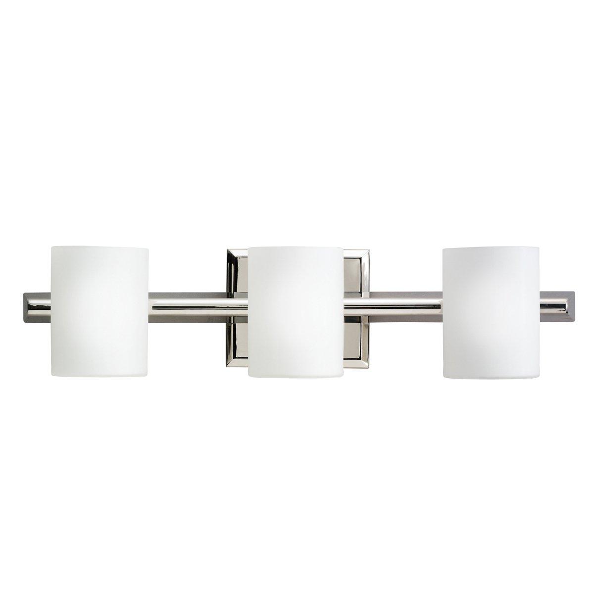 Bathroom halogen light fixtures - Kichler 5967ni Three Light Bath Vanity Lighting Fixtures Amazon Com