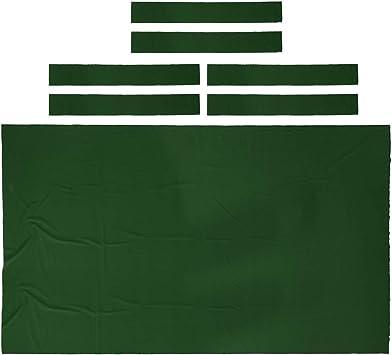 IPOTCH Fieltro de Mesa de Billar de 9 Pies, Tapete de Reemplazo de Piscina de Billar - Verde: Amazon.es: Deportes y aire libre