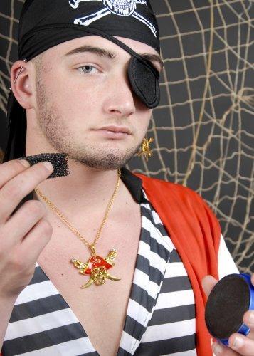 Pirate Fancy Dress Stubble Make-Up Kit ()