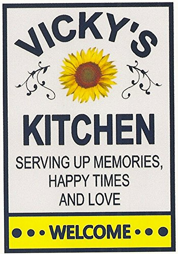 Amazon Com Vicky S Kitchen Sunflower Welcome