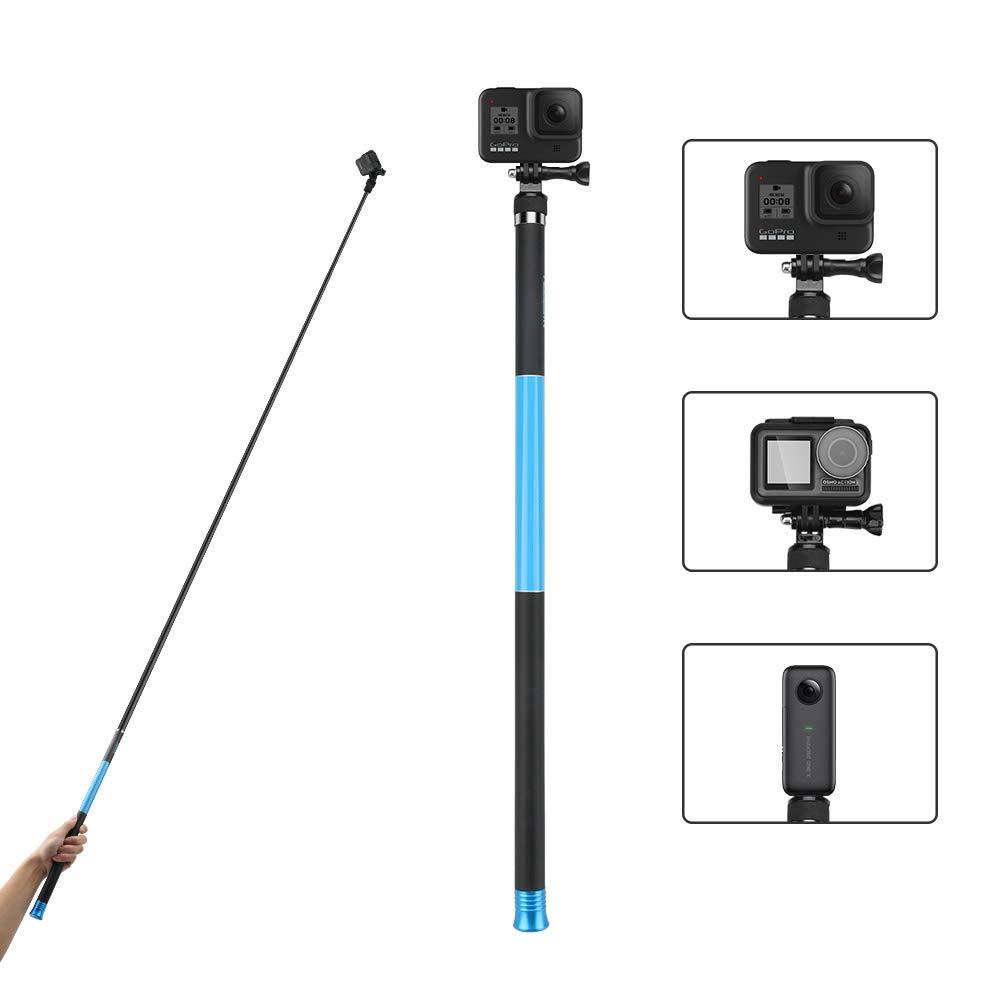 TELESIN 106'' Long Carbon Fiber Handheld GoPro Selfie Stick Extendable Pole Monopod for GoPro Hero8 Hero7 Hero 6 Hero 5 Black, DJI OSMO Action Camera, Insta 360 Cam & Other Action Cameras by AFAITH