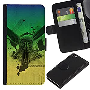 UNIQCASE - Apple Iphone 6 4.7 - Owl Neon Glow Triangle Illuminati - Cuero PU Delgado caso cubierta Shell Armor Funda Case Cover