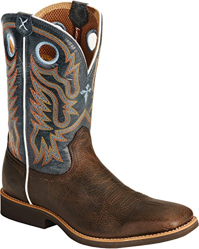 Twisted X Men's Western Roper Cowboy Boot Square Toe Chocola