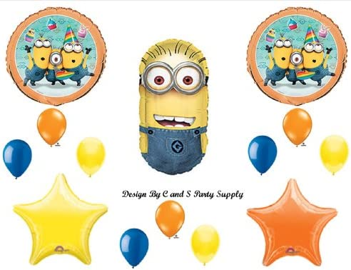 Amazon DESPICABLE ME 2 MINIONS Happy Birthday PARTY Balloons Decorations Supplies Toys Games