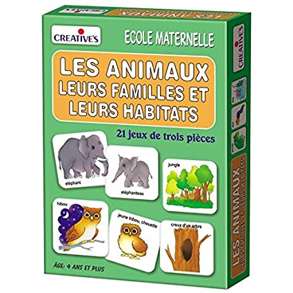 StonKraft Animal Families & Their Homes (French)   Learn French   Learning Games   Educational Games & Toys   Matching Games for Kids & Toddlers