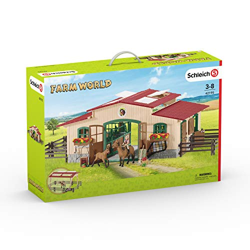 - Schleich Stable with Horses & Accessories
