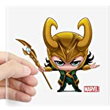 "CafePress Loki Stylized Square Sticker 3"" X 3 Square Bumper Sticker Car Decal, 3""x3"" (Small) 5""x5"" (Large)"