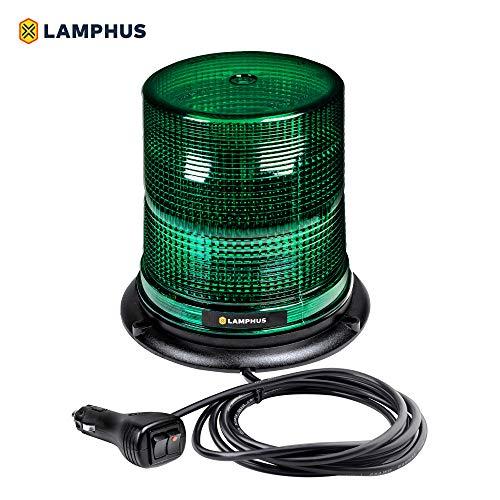 "LAMPHUS Aura 7"" 12W LED Beacon Warning Strobe Light [SAE Class 1] [38 Flash/Rotate Patterns] [9"