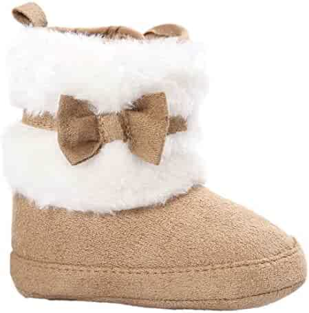 7df464fe2137f Witspace Newborn Infant Baby Boys Girls Warm Snow Booties Toddler Kids Soft  Sole Crib Shoes