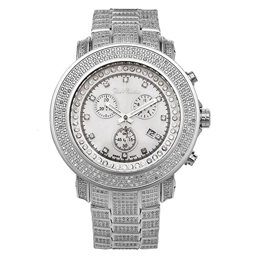 Joe Rodeo JJU304 Junior Diamond Watch, White Dial with Silver Band