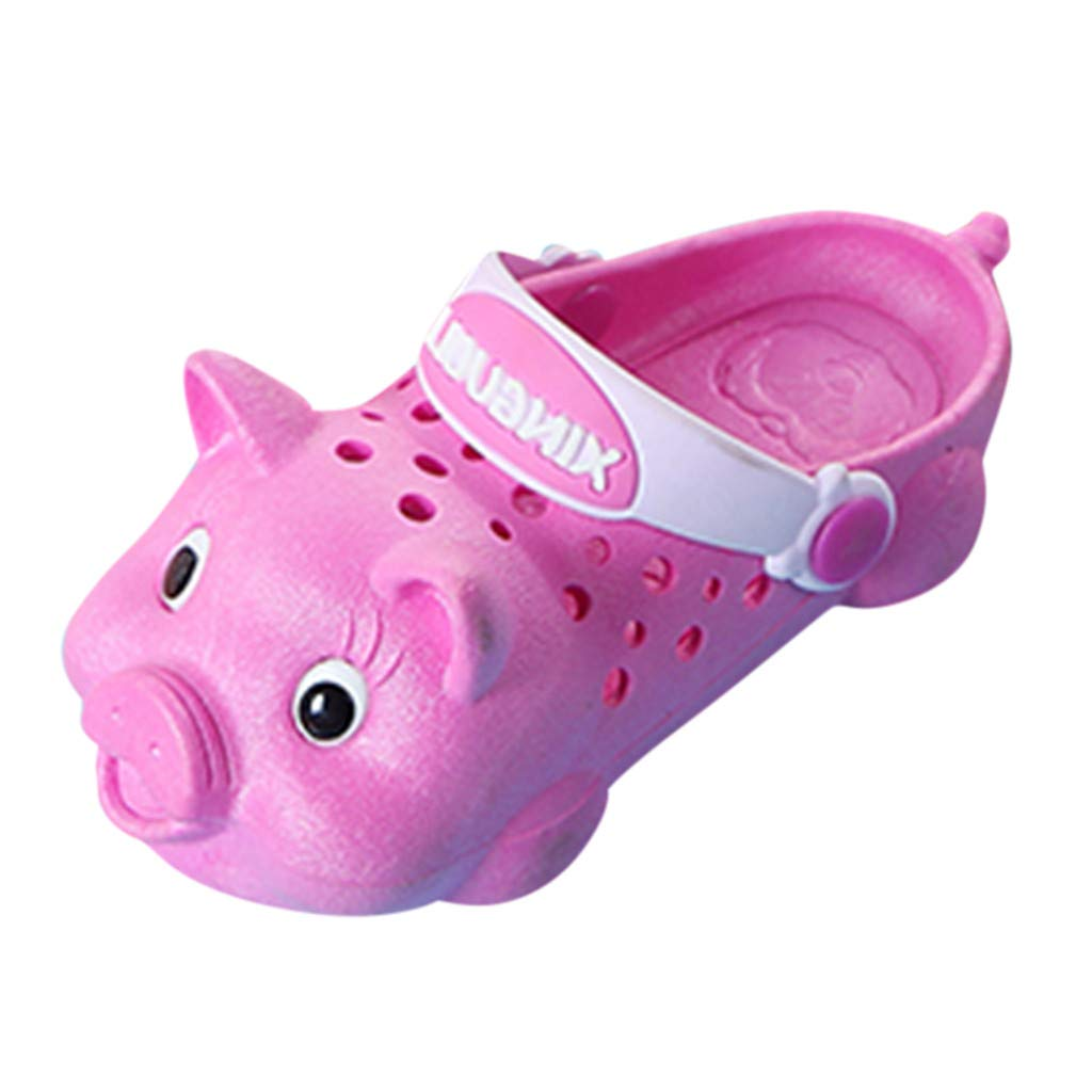 Cloudro Little Boys Girls Sandals Cute Pig Beach Shoes Outdoor Slippers for 1-7 T