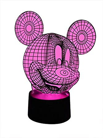 Originale Lampe Eclairage MouseLuminaires 3d Et Led Mickey mO80PyNvnw