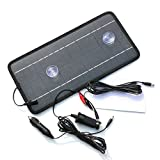 Renepv 8.5W 12V Power Solar Panel Battery Charger For Car SUV Truck Boat Marine Caravan Comes with USB, Alligator Clips and Cigarette Adapter