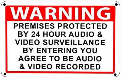 Home Security Sign video Surveillance Audio & Video Camera Warning CCTV Signs
