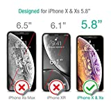 XDesign Glass Screen Protector Designed for iPhone X & iPhone Xs (2018) (3-Pack) Tempered Glass with Touch Accurate and Impact Absorb + Easy Installation Tray [Fit with Most Cases] - 3 Pack