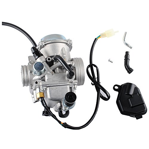 r Honda 350 Rancher 2000-2006 FE/FM/TE/TM/ES Atv 4 Stroke Carburetor with Black Throttle Base Cover by Wadoy ()