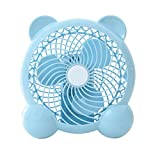 MagiDeal Quiet Mini Table Desk Personal Fan and Portable Cooling Fan for Office Home School and Camping, High Compatibility, Rechargeable - Blue A