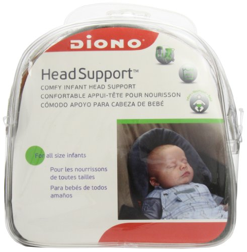 Diono Head Support, Protective Head Support for Use in Car Seats, Infant Carriers, and Strollers, Grey by Diono (Image #1)