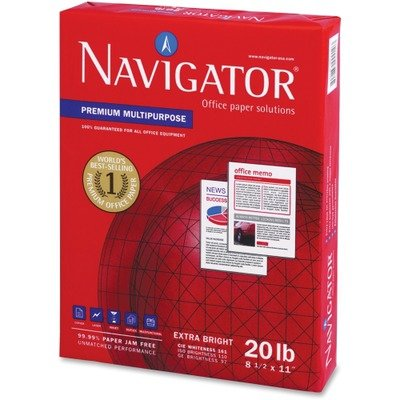 Navigator Premium Copy/Laser/Inkjet Paper, 97 Brightness, 20 lb, Legal Size (8.5 x 14), White, 5000 Sheets (NMP1420)