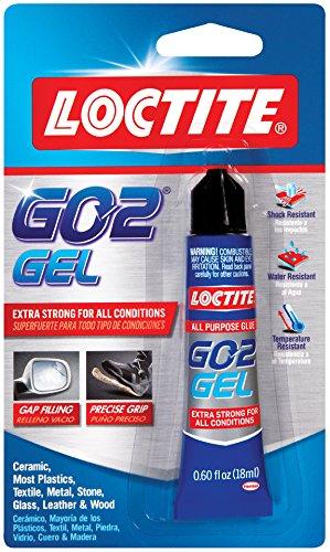 Flexible Adhesive (Loctite Go2 Gel Clear Adhesive .60-Fluid Ounce Tube (1832982))