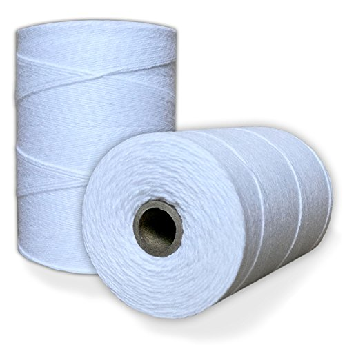 100% Cotton Loom Warp Thread (Pure White), 8/4 Warp Yarn (800 YARDS), Perfect for weaving: carpet, tapestry, rug, blanket or pattern - Warping thread for ANY (Pure Cotton Yarn)