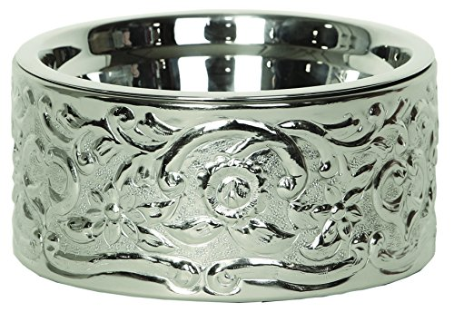 Unleashed Life Savannah Bowl Collection from Nickel Plated Reclaimed Steel, Large