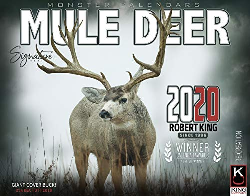 2020 Mule Deer Calendar of Giant Bucks Free 2-3 Day Shipping by The KING Company/Monster Calendars (Calendar Mule)