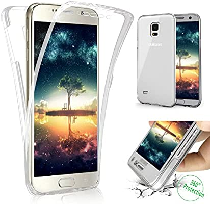 info for cb42b 4dd87 Galaxy S5 Case,ikasus [Full-Body 360 Coverage Protective] Crystal Clear  Ultra-Slim Scratch-Resistant Front + Back Full Coverage Soft Clear TPU ...