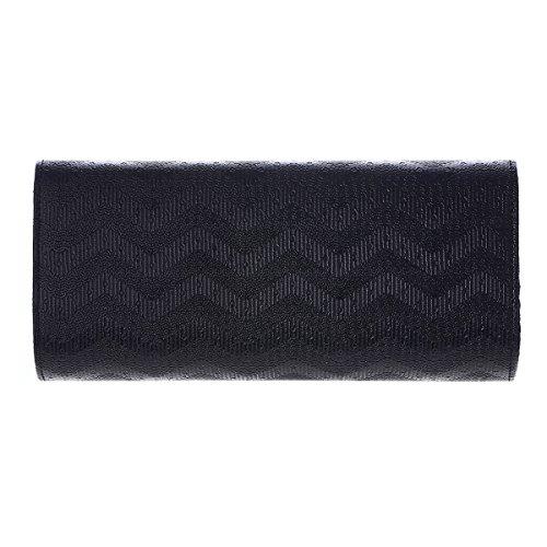 Damara Large Coffee Stylish Textured Wave Handbags Clutch Women 66rpzWO