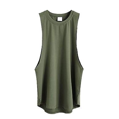 6489b6100158b Men Tank Tops,Fineser Mens Sleeveless Gym Bodybuilding Fitness Muscle  Singlet A-Shirt Top