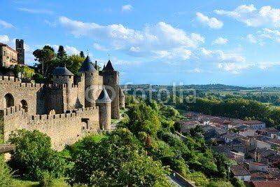 adrium Beautiful Hilltop Fortress of Carcassonne, France (81742012), Forex, 50 x 30 cm: Amazon.es: Jardín