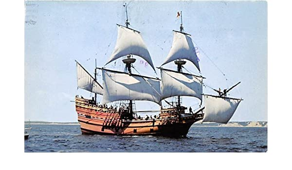 Mayflower II Plimoth Plantation Plymouth Massachusetts Postcard at