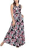 Comila Women's Summer V Neck Floral Maxi Dress