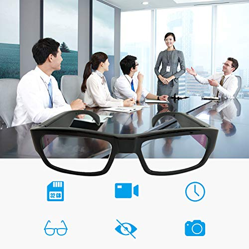 Upgraded Version] FHD Hidden Camera Eyeglasses, Super Small