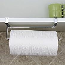Namivad Kitchen Paper Towel Holder Hanger Rack Under Shelf Cabinet Door Drawer