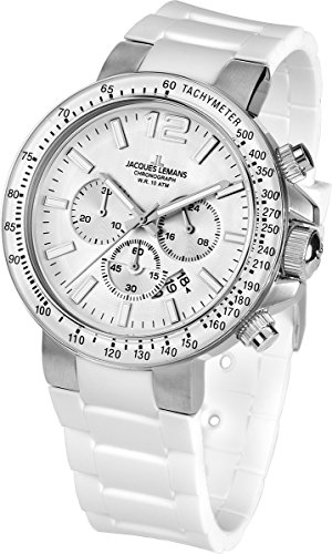 Jacques Lemans Milano 1-1768B 46mm Stainless Steel Case Silicone Mineral Men's & Women's Watch