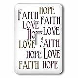 3dRose lsp_186717_1 Faith Hope Love - Single Toggle Switch