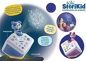 VTech - StoriKid, Cuentacuentos con proyector, escucha historias, poemas o canciones acompañadas de una proyección, graba tu propia historia, ...